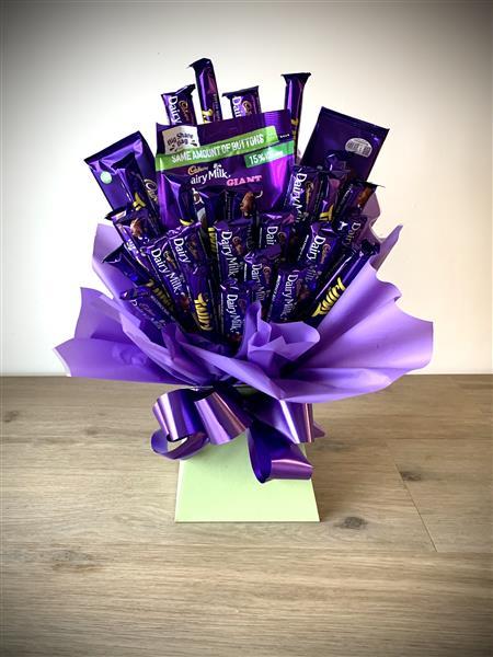 how to make cadbury chocolate bouquet